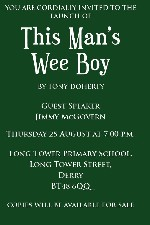 LAUNCH EVENT - Jimmy McGovern to officially launch Tony Doherty's This Mans Wee Boy